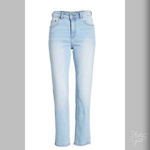 Dr. Denim Jeans - Dr Denim High Waisted Crop Straight Leg Jeans